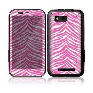 Pink Zebra Decorative Skin Decal Sticker for Motorola Defy