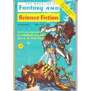 F and SF 1971  January: Harlan Ellison, A. E. van Vogt