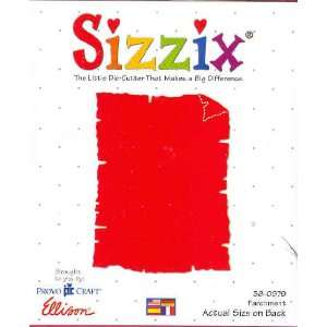 Sizzix Originals PARCHMENT Die RED 38 0979: Home & Kitchen