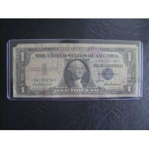 One Dollar Star Note Series 1957 $1 Bill Note Silver Certificate