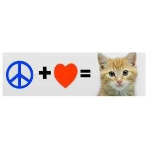 Peace + love  kittens CUTE & FUNNY NEW BUMPER STICKER