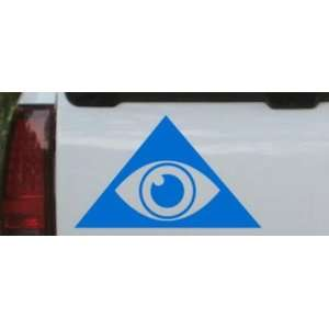 Illuminati Eye Masonic Car Window Wall Laptop Decal Sticker    Blue