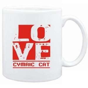Mug White  LOVE Cymric  Cats