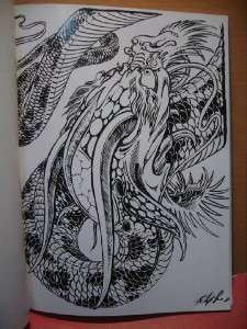 Filip leu DRAGONS TATTOO FLASH SKETCH Art A4 Book Vol. I & II 11