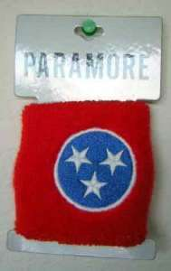 PARAMORE~ TENNESSEE STARS WRIST CUFF RED WHITE BLUE