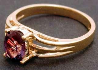 NATURAL 1.29 carats RUSSIAN ALEXANDRITE RING 14K GOLD