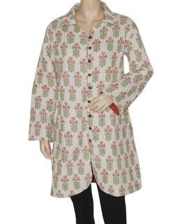 New Handmade Cotton Womens Quilted Coat Jacket Dress