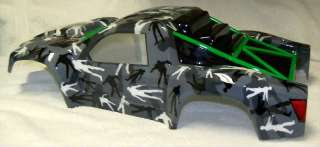 Flo Tek Chevy Silverado Short Course Body w/ Custom Zombie Camo Paint