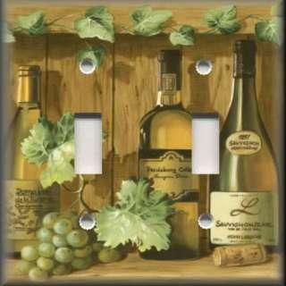 Switch Plate Cover   Kitchen Decor   White Wine And Grape Vines
