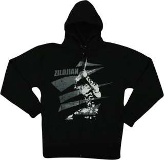 Zildjian Cymbals Classic Black Drummers Zip Hoodie Jacket Pull Over