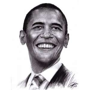 Barack Obama the 44th President of the United States Sketch Portrait
