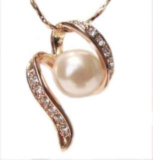 Rose Gold pearl Swarovski dance love Princess Necklace