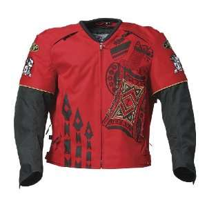 Joe Rocket Lucky Mens Textile Motorcycle Jacket Red/Black