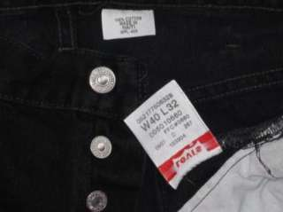 Mens 36x30 Levis 501 black button fly jeans (tag  40x32)