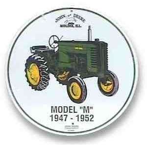 John Deere Model M Tin Sign JD CS60022: Kitchen & Dining