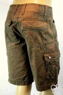 LEVIS JEANS Cargo Sits Below Waist Relaxed Fit Dark Brown Mens Shorts