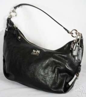 Coach Madison Leather Hailey Black Satchel Bag Purse New 14304M $228