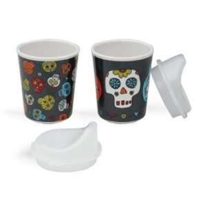 Dia de los Muertos set of sippy cups by Sugar Booger Baby