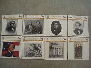 JEFFERSON DAVIS Confederate President U.S. CIVIL WAR 16 CARDS