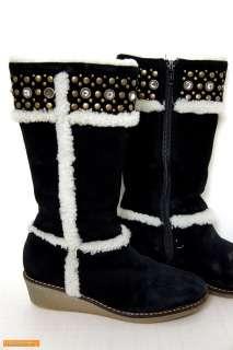 KIDS Girl kors michael kors suede Black heel Boot Shoe Sz US 2M