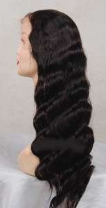 VIRGIN INDIAN REMY HUMAN HAIR FULL LACE BODY WAVE WIG
