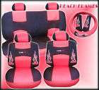 17P HOT PINK FLAMES SEAT COVERS COMBO CARPET FLOOR MATS items in