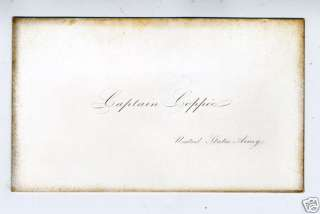 Rare 1840s Mexican War Army Card Captain H Coppee