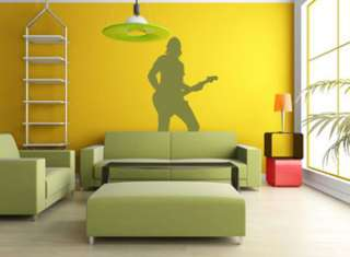 Music Rock Silhouette Man Removable Wall Art Decal