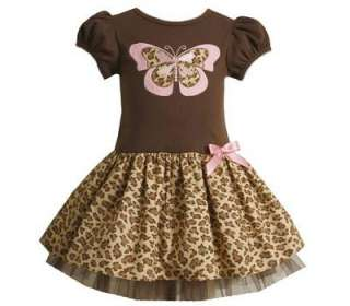 Bonnie Jean Baby Girls Brown Butterfly Fall Dress 18M