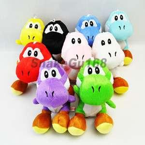 Lot 9 Super Mario Bros 7 YOSHI Plush Toy Set New+MW133