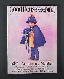 1925 GOOD HOUSEKEEPING Magazine   April   Jessie Willcox Smith