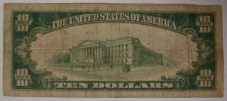1928 $10 Ten Dollar Bill Gold Certificate Yellow Seal |