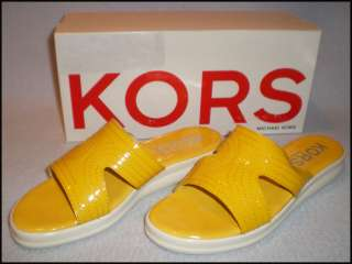 Michael Kors Yellow Patent Sandals NEW with Box