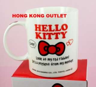 Hello Kitty Ceramic Cup Mug Authentic Sanrio D19b
