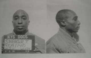 Tupac Shakur (2pac) Mugshot Retro Print T Shirt (S XXL)