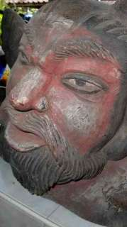 VERY RARE LARGE OLD WOODEN CARVED DEVIL SHIPS FIGURE HEAD