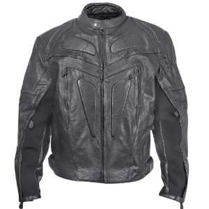 Xelement XS 623 Armored Mens Leather Motorcycle Jacket