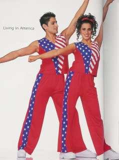 LIVING IN AMERICA Unisex Hip Hop Jazz Dance Costume CS
