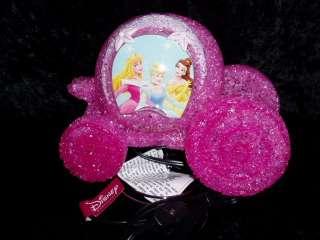 PINK DISNEY PRINCESS CARRIAGE TABLE DRESSER LAMP