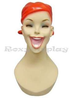Mannequin Head Bust Vintage Wig Hat Jewelry Display #Y5