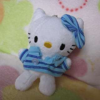 Cute Small HelloKitty Girls Kid Plush Doll Toy Sweater Dress Blue