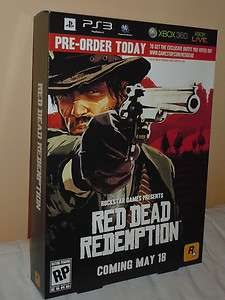 Redemptiom Store promo display poster game box sign xbox 360 PS3 psp
