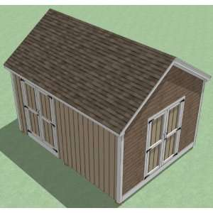 12x16 Shed Plans   How To Build Guide   Step By Step