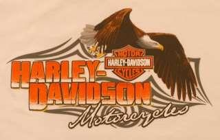 Harley Davidson Youth White T Shirt Eagle Logo NWT