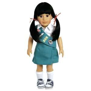 Adora Play Doll Lily   Girl Scout Jr. 18 Doll & Costume