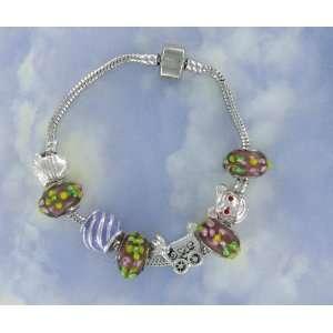 Designer European Sterling Silver 8 Bead Charm Friendship