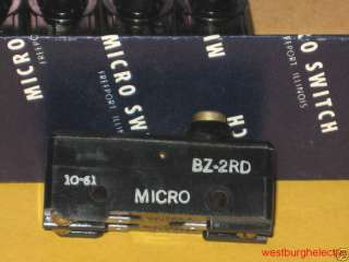 Micro switch BZ 2RD button style NO/NC 15A NOS bz2rd