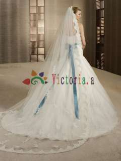 Ivory Soutache/Ribbon Applique Beaded Wedding Dress Prom Gowns