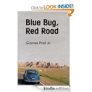 Blue Bug, Red Road Driving Slowly Across Time Jr. Gaines Post