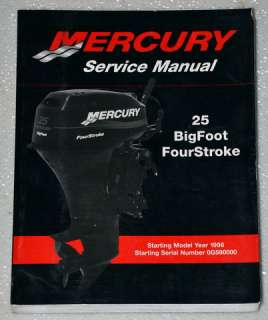 1998 2001 MERCURY OUTBOARD 25 HP BIGFOOT 4 Four Stroke Service Manual